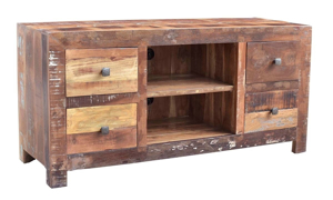 Picture of Ganges 60-Inch Handcrafted Solid Wood Media Console