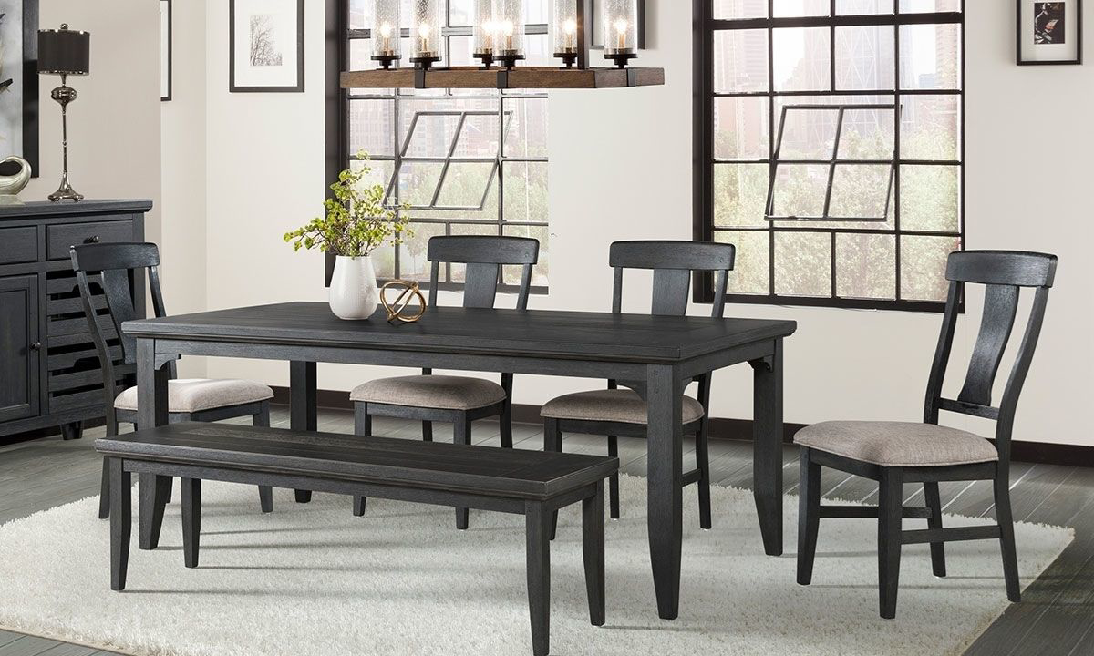 Grove Black 6 Piece Dining Set