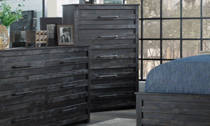 Picture of Hillsdale Villa Black 5-Drawer Chest