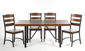 Picture of Intercon 5-Piece Industrial Dining Set