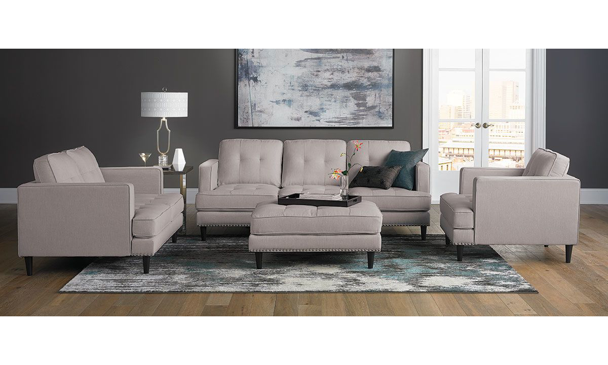 Picture of Jax Trounce Linen Mid-Century 4-Piece Living Room Set