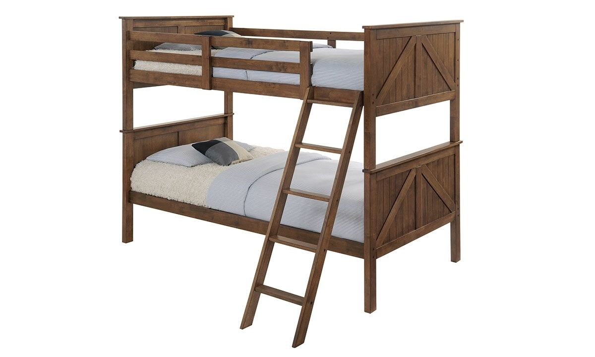 Picture of Lane Rustic Oak Ashland Twin Bunk Bed