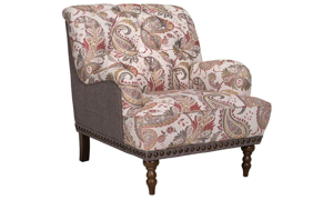 Picture of Tufted Charles of London Arm Chair & Ottoman
