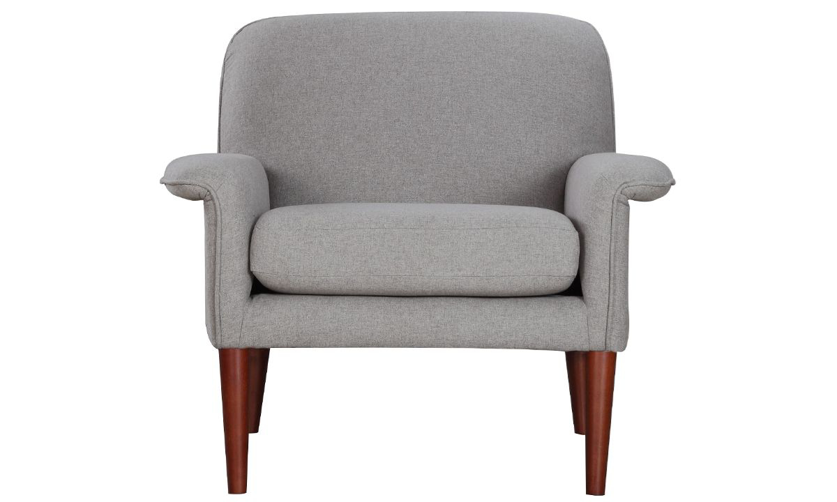 Picture of Tzu Grey Key-Arm Accent Chair