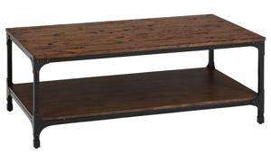 Picture of Urban Nature Pine & Steel Cocktail Table