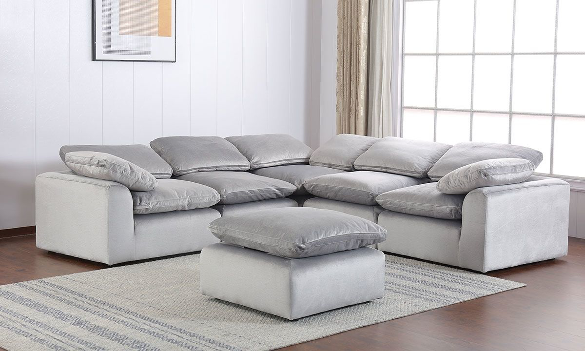 Picture of Modular 5-Piece Sectional Velvet Grey