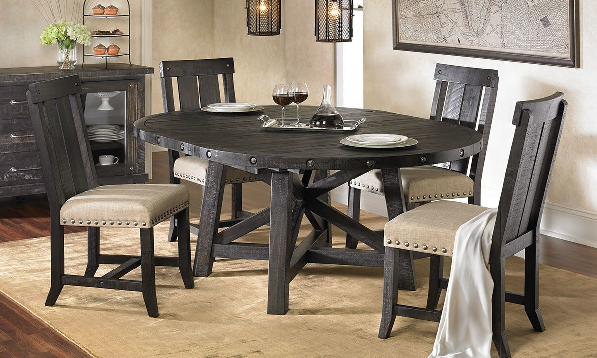 Picture of Yosemite Solid Pine Round Dining Set