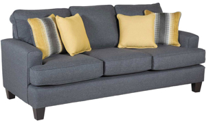 Picture of Maxwell Grey Contemporary Track Arm Sleeper Sofa