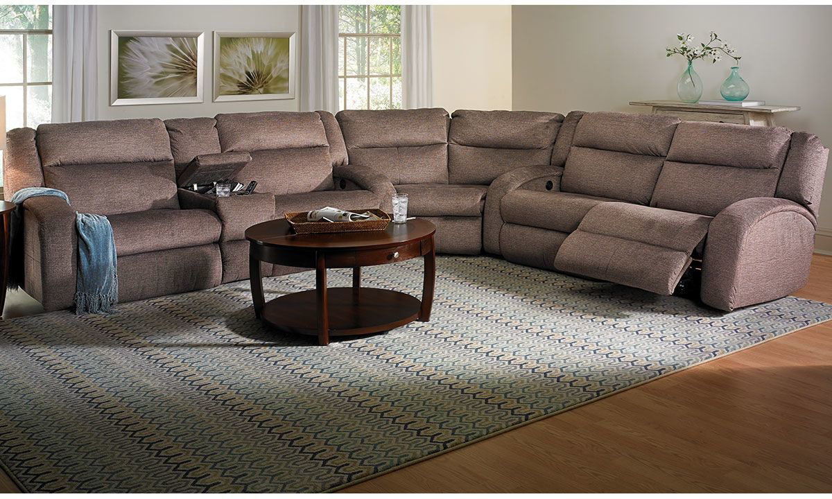 Picture of Infinite Motion Memory Foam Power Reclining Sectional