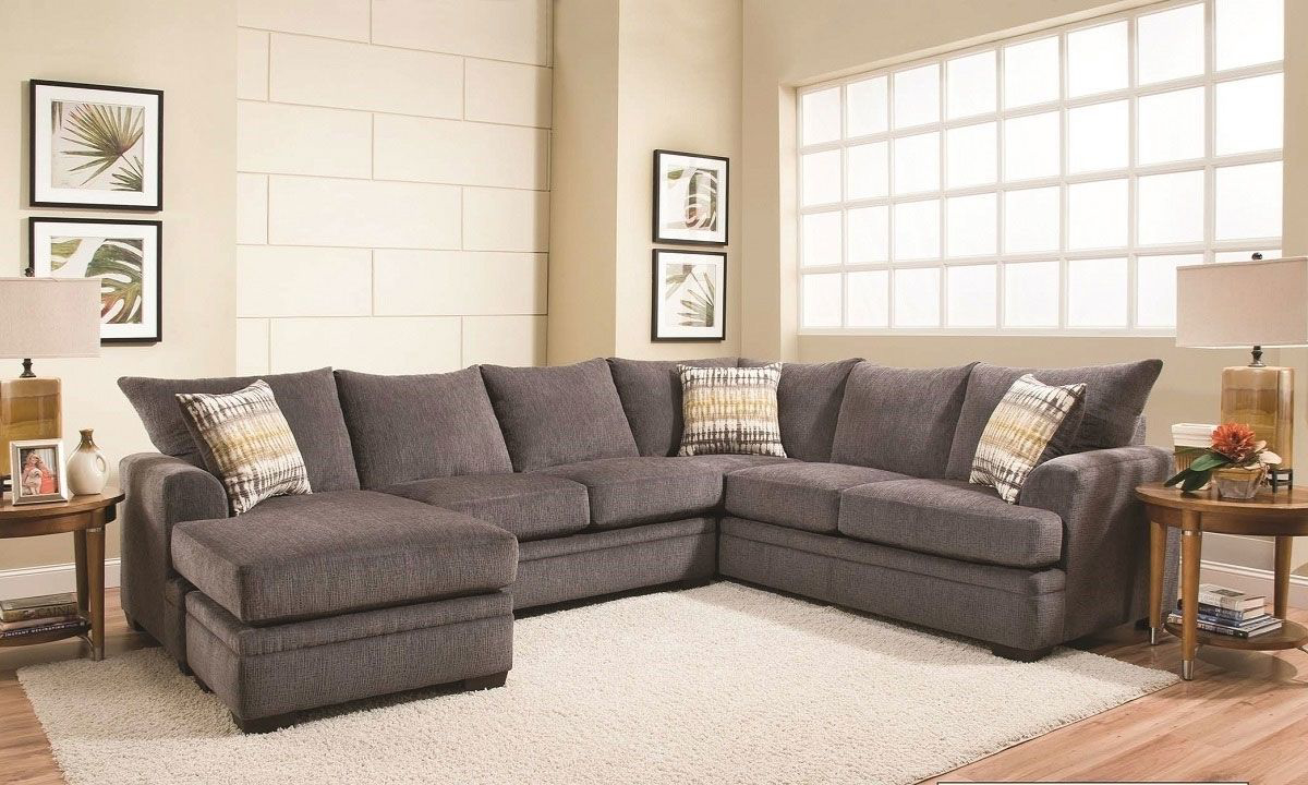Picture of Perth Smoke American-Made Sectional with Left Side Chaise