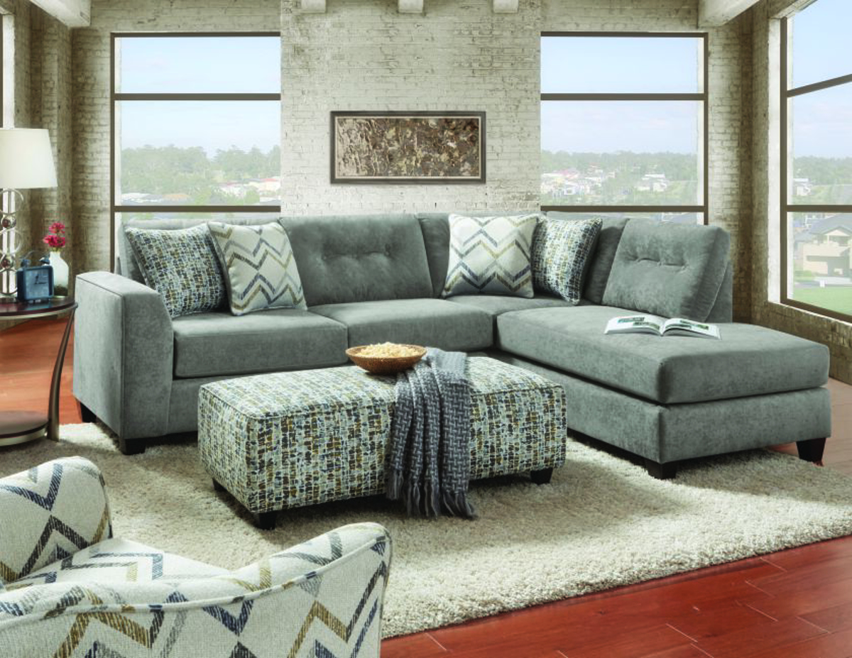 Sensation Vintage Handmade Tufted Chaise Sectional