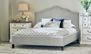Picture of Parker House Jamie Falstaff Camelback Upholstered Queen Bed