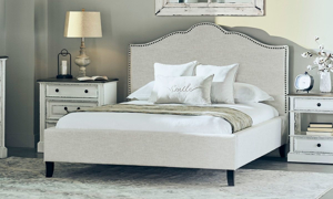 Picture of Parker House Jamie Flour Camelback Upholstered King Bed