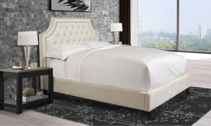 Parker House Jasmine Champagne Tufted Upholstered Queen Bed