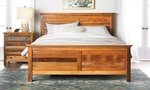 Picture of Mumbai Handcrafted Solid Wood Queen Panel Bed