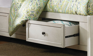 Picture of San Mateo White Arts & Crafts Queen Storage Bed