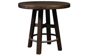 Oozlefinch Lady in White Stout Round Counter Height Table