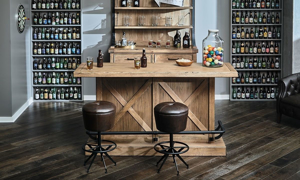 Picture of Oozlefinch Old Comfort Swivel Bar Stool