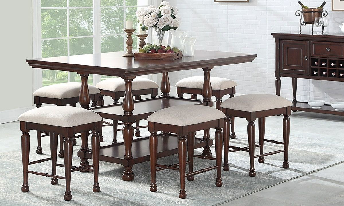 Picture of McGregor Counter Height Storage Dining Set with 4 Stools