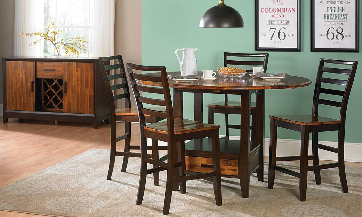 Picture of Ombré Solid Acacia 5-Piece Counter Height Dining Set