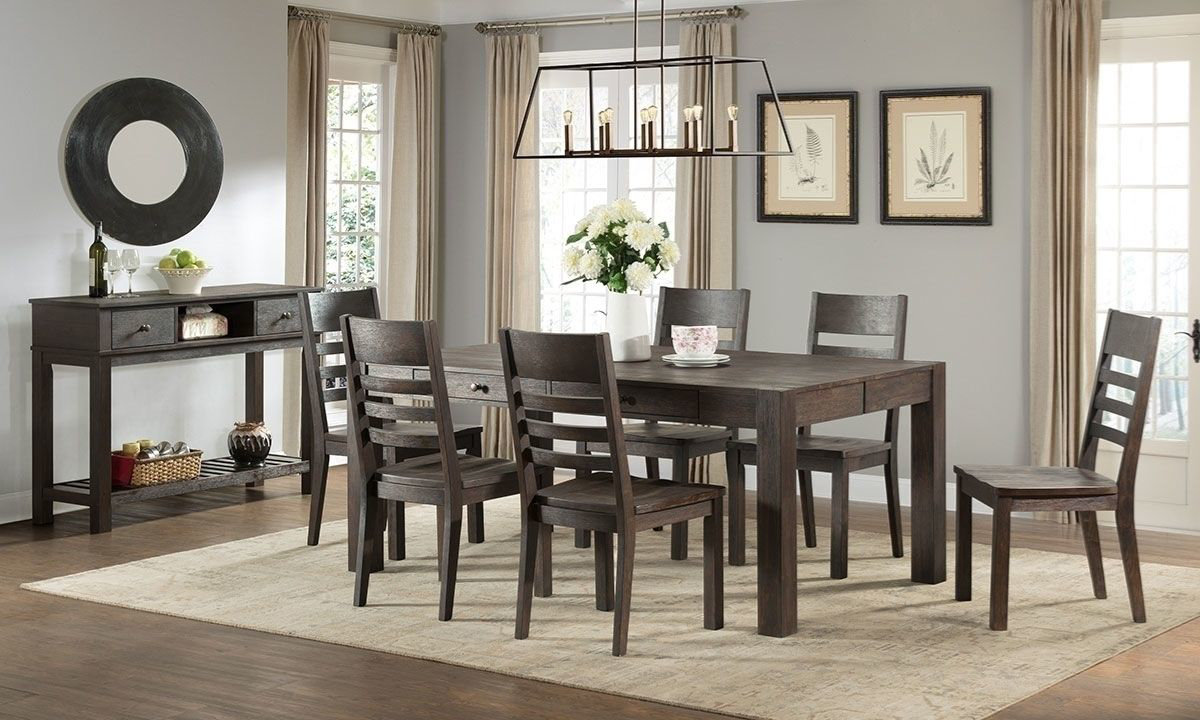 M 5 Piece Solid Acacia Dining Room