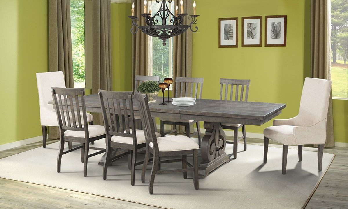 Picture of Stone Acacia 5-Piece Trestle Dining Set