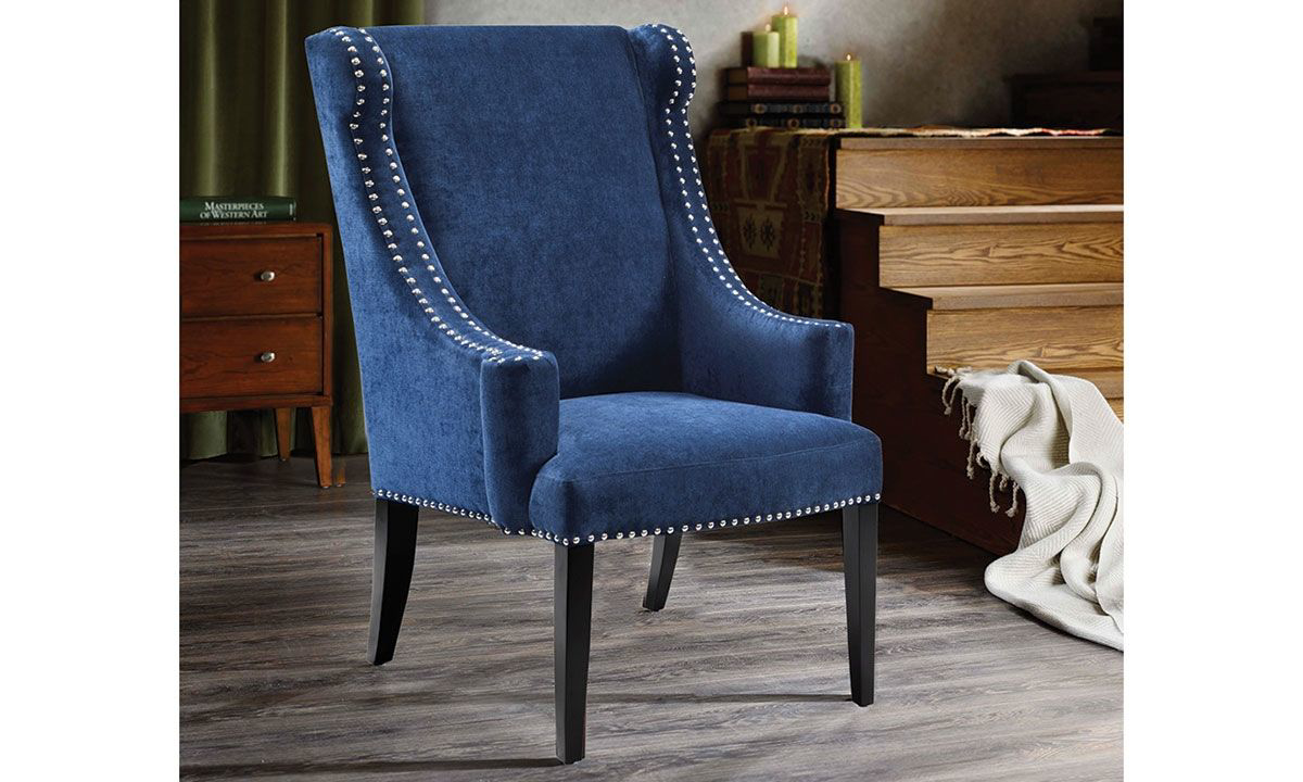 Picture of Marcel Wingback Accent Chair with Nail Head Trim