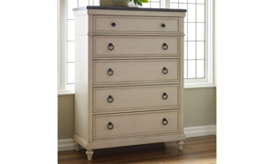 Picture of Brookhaven Vintage Linen 5-Drawer Chest