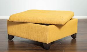 Picture of Juno Storage Cocktail Ottoman Lailah Gold