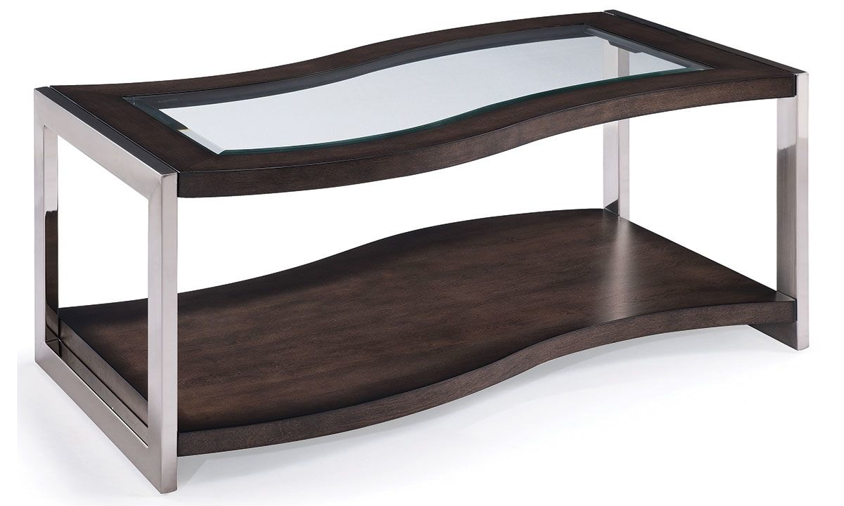 Picture of Magnussen Home Lynx Curved Cocktail Table with Casters