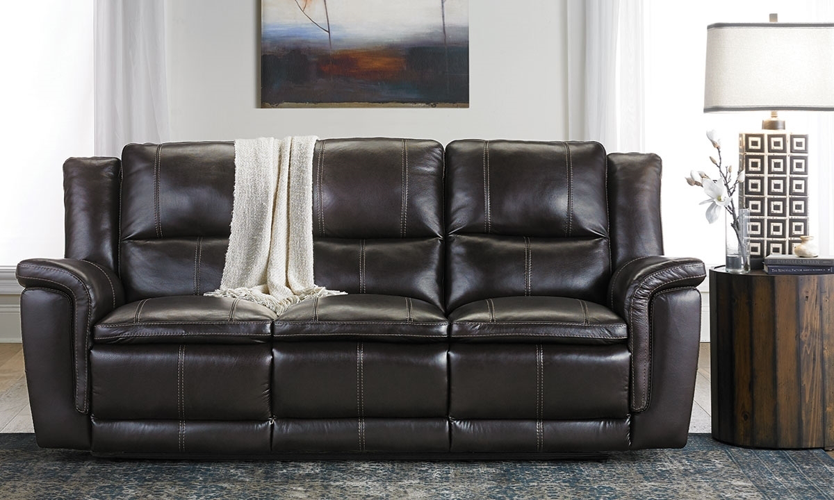 - Haynes Furniture92-Inch Top-Grain Reclining Sofa With Power Headrest