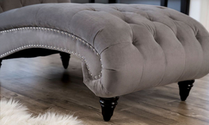 Abbyson Living Tiffany Grey Tufted Chaise