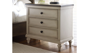 Picture of Brookhaven Vintage Linen 3-Drawer Nightstand