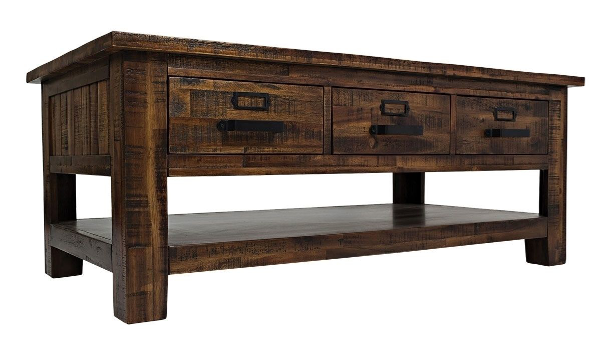 Picture of Cannon Valley 3-Drawer Storage Cocktail Table