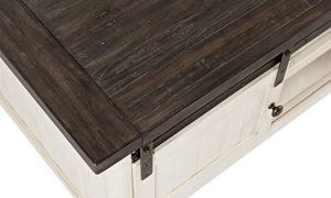 Picture of Madison County Reclaimed Pine Barn Door Cocktail Table