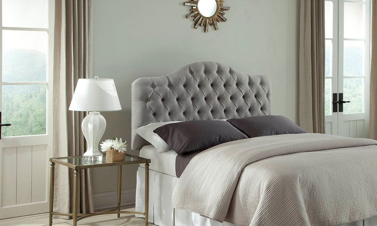 Martinique Dove Button-Tufted Twin Headboard