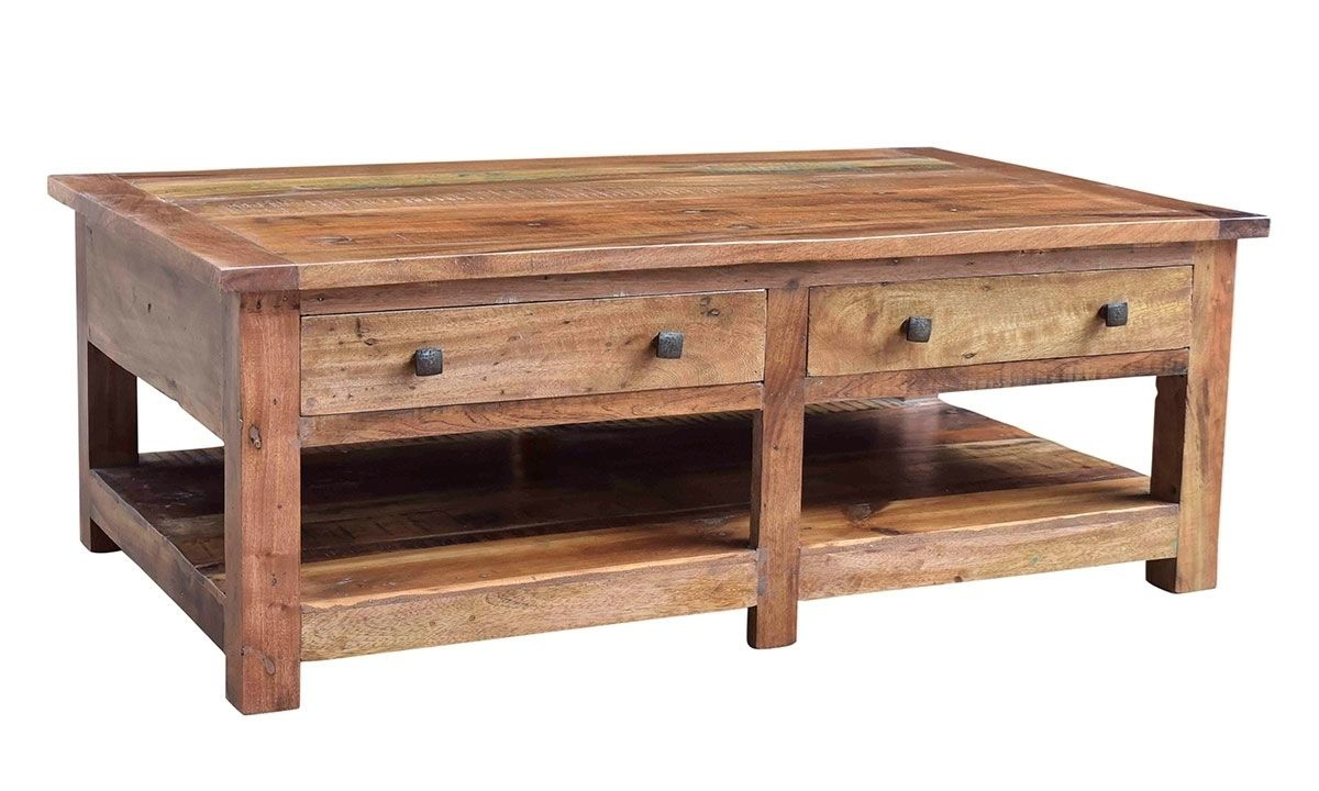 Picture of Nepal Handcrafted Solid Wood Rectangle Cocktail Table
