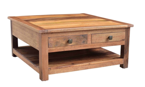 Picture of Nepal Handcrafted Solid Wood Square Cocktail Table
