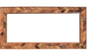 Picture of Rajastan Handcrafted Solid Wood Chevron Mirror