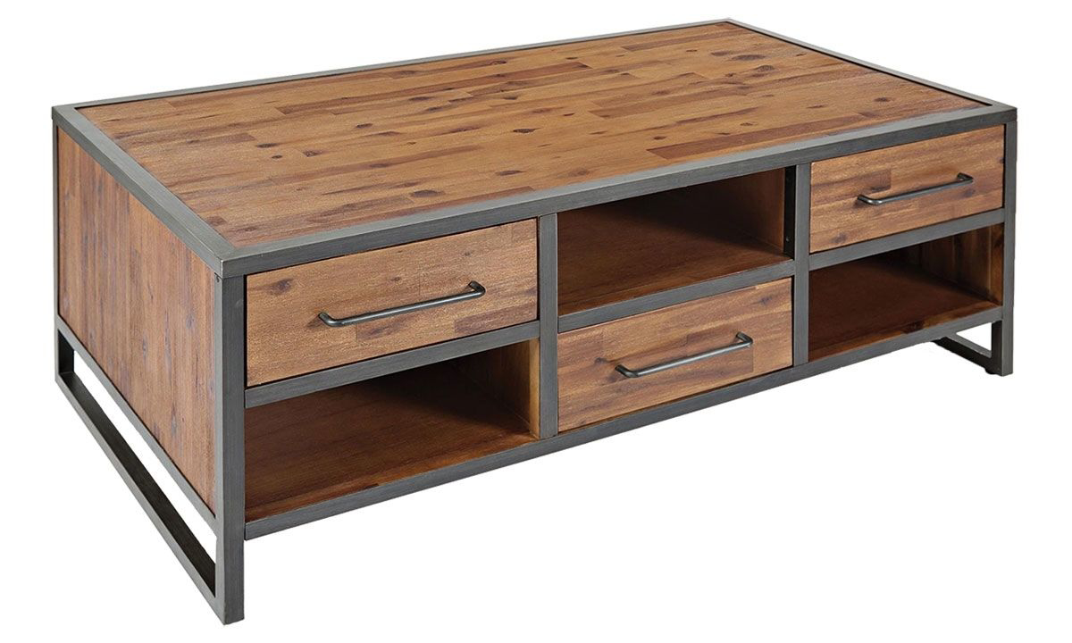 Picture of Studio 16 Acacia & Metal Storage Cocktail Table
