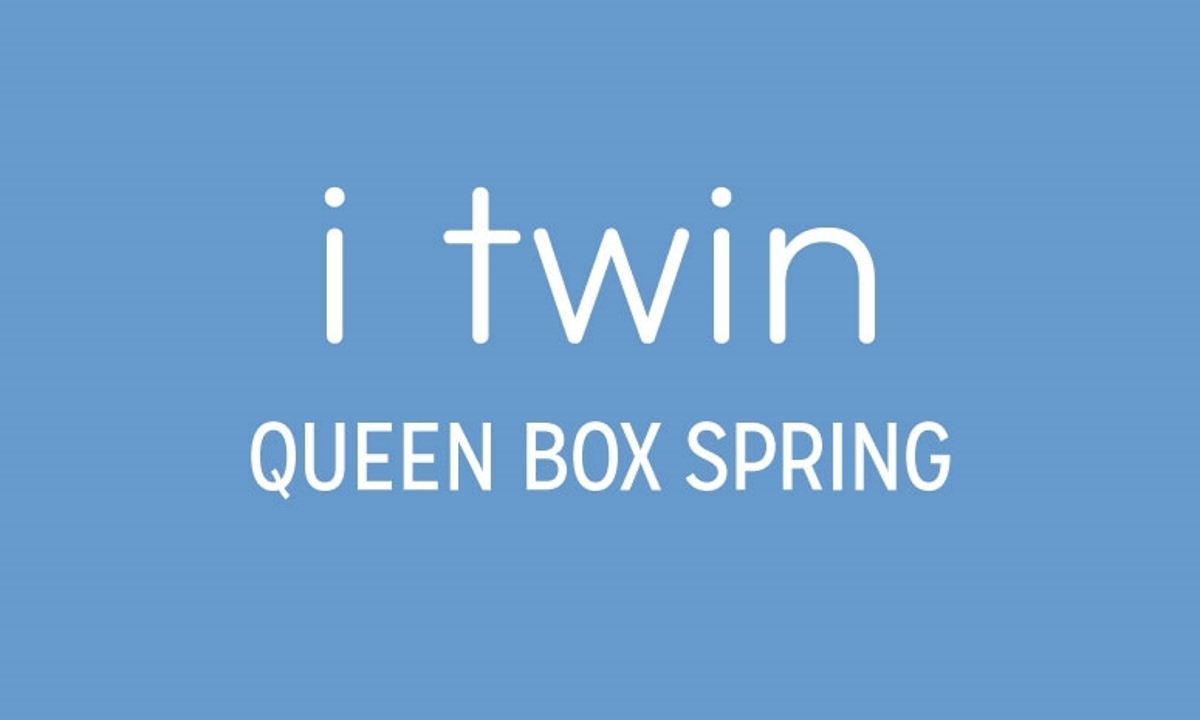 """iTwin Black Queen 9"""" Box Spring"""