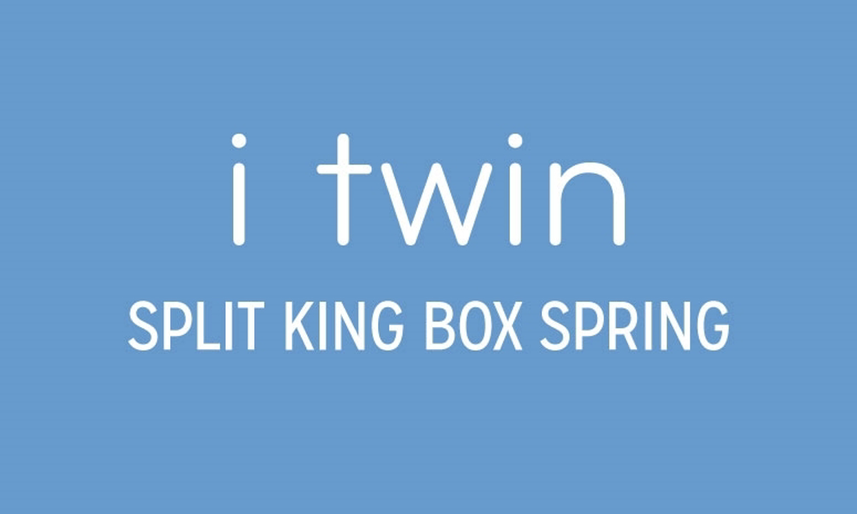 """iTwin Hotel Continental Split King 9"""" Box Spring"""
