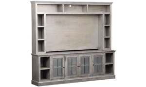 "Picture of Aspenhome Churchill Grey 96"" Entertainment Wall Unit"
