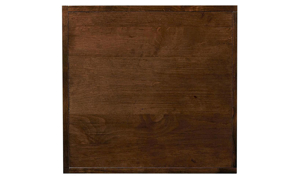 Close-up of tobacco brown finish on Aspenhome Nova End Table