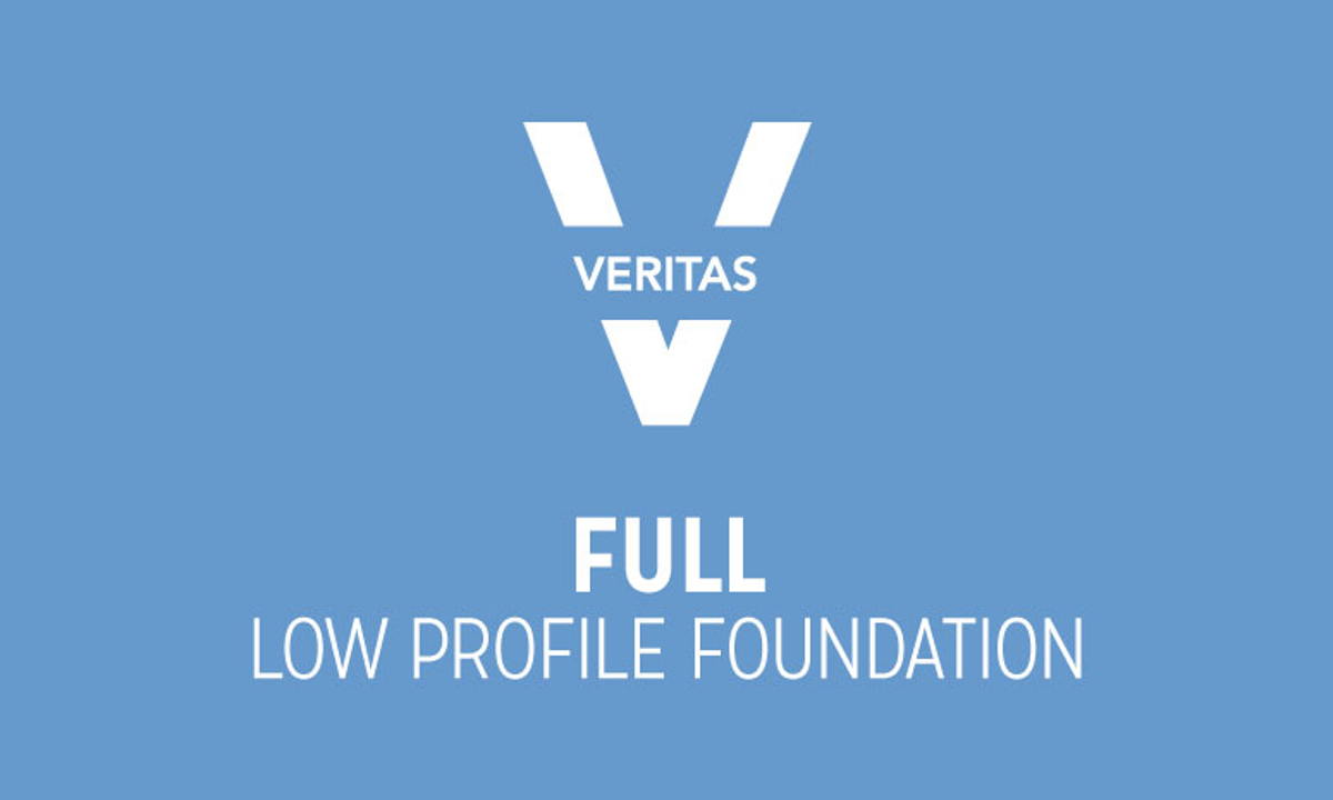 VERITAS Full Low Profile Foundation Logo in Blue and White