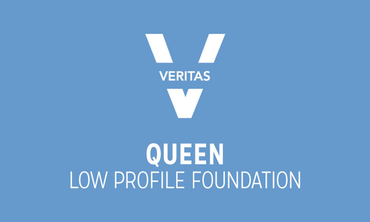 VERITAS Queen Low-Profile Foundation Logo in Blue and White