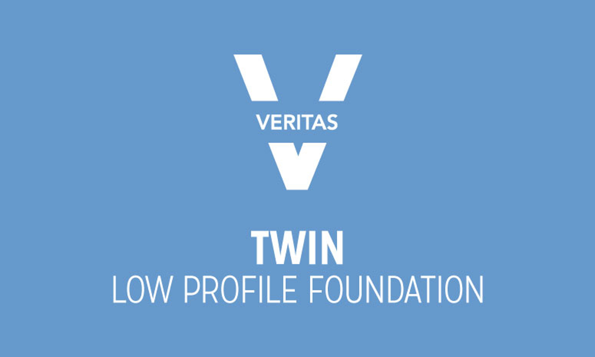 VERITAS Twin Low-Profile Foundation Logo in Blue and White