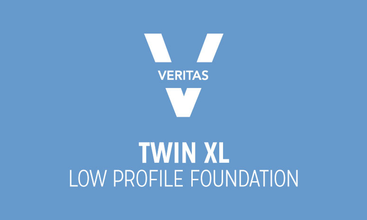 VERITAS Twin-XL Low Profile Foundation Logo in Blue and White