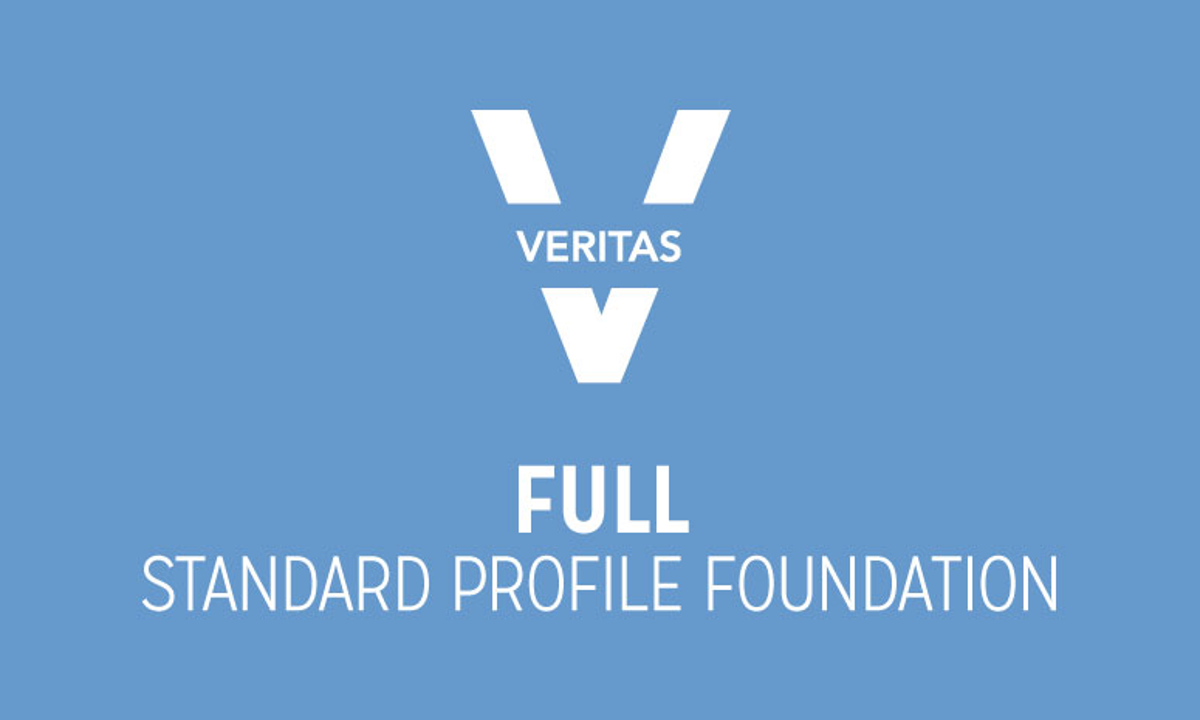 VERITAS Collection Standard Profile Full Foundation Logo in Blue and White