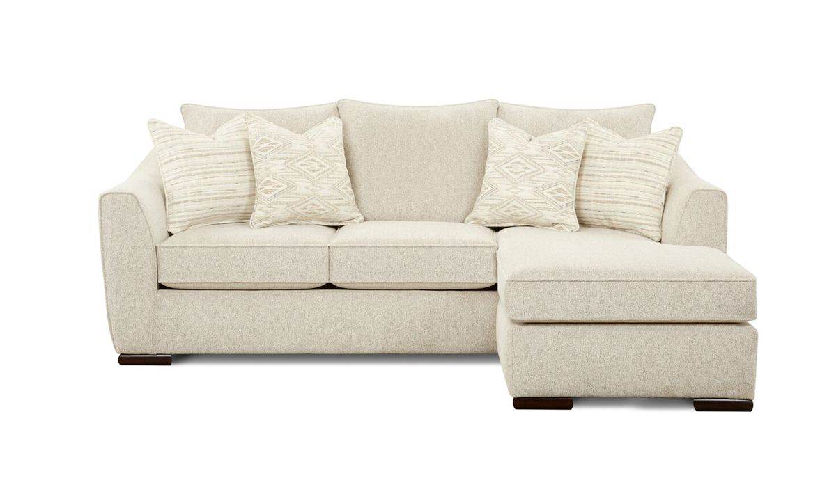 Vibrant Oatmeal Reversible Sofa Chaise